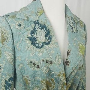 CABi Tapestry Coat with Velvet Belt